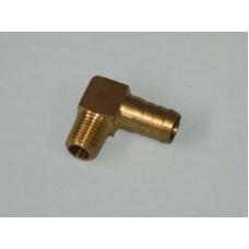 Brass Elbow P6 1/2 Barb - 1/4 BSP Long